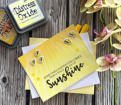 Honey bee stamps- inspection card