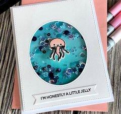 Heffy doodle - Shaker card