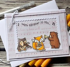 Lawn fawn - Happy birthday card