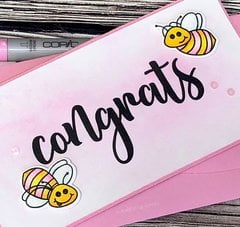 Honey bee stamps - Congrats card