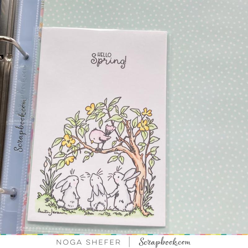 A pocket card for spring