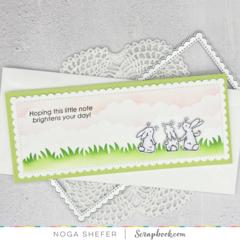 Encouragement slimline card