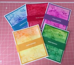 Watercolor cards set