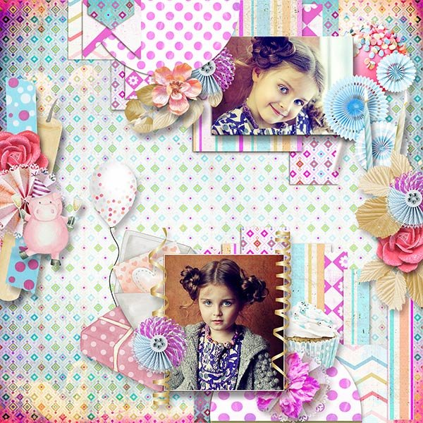 Blow The Candles & Make A Wish Collection  by Ilonkas Scrapbook Designs