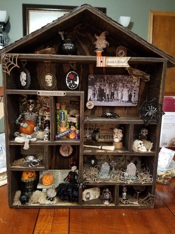 Halloween wood shadow box