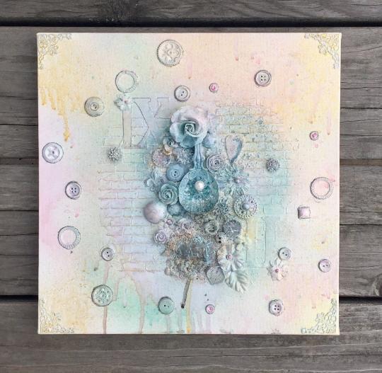 Pastel Mixed Media Canvas