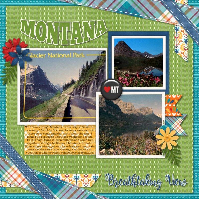 Connie Prince - January 2018 Template Bundle - Travelogue Montana