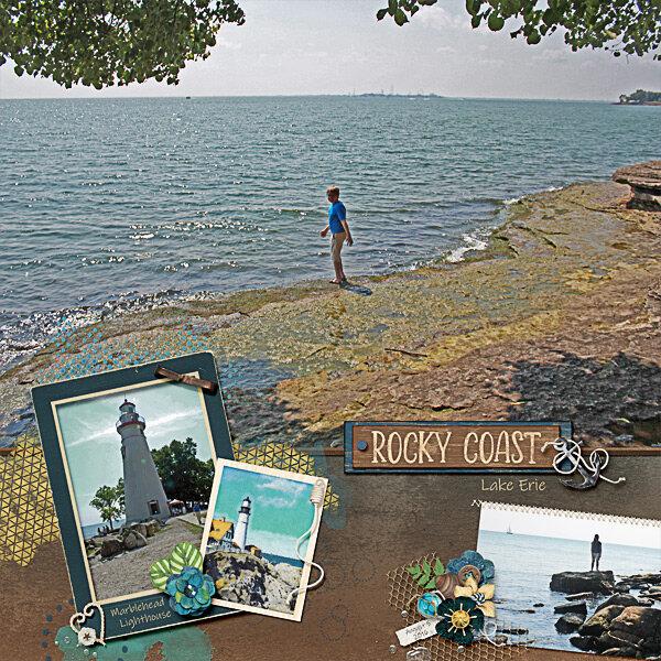 Rocky Coast of Lake Erie