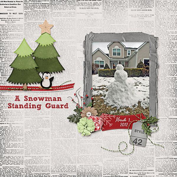 A Snowman Standing Guard