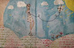 Art journal page.