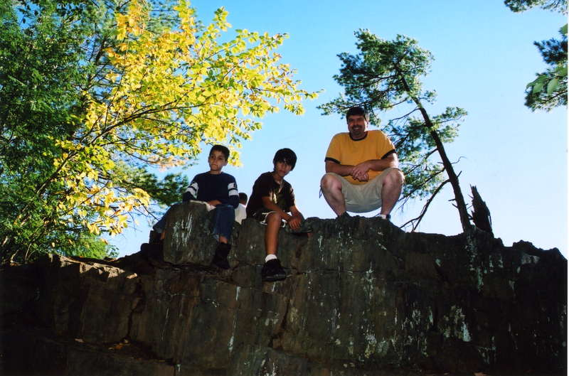 Up on a cliff at dells of eau claire