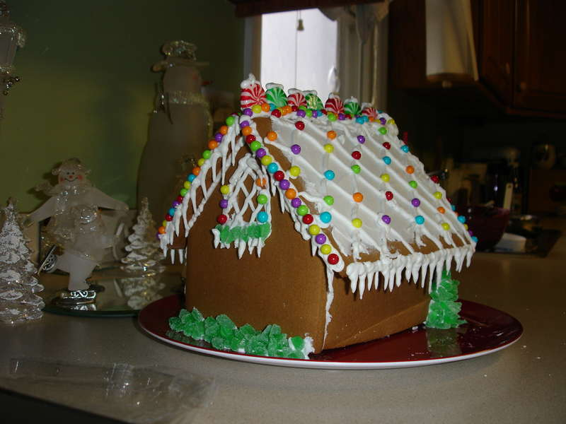 Gingerbread house (back)