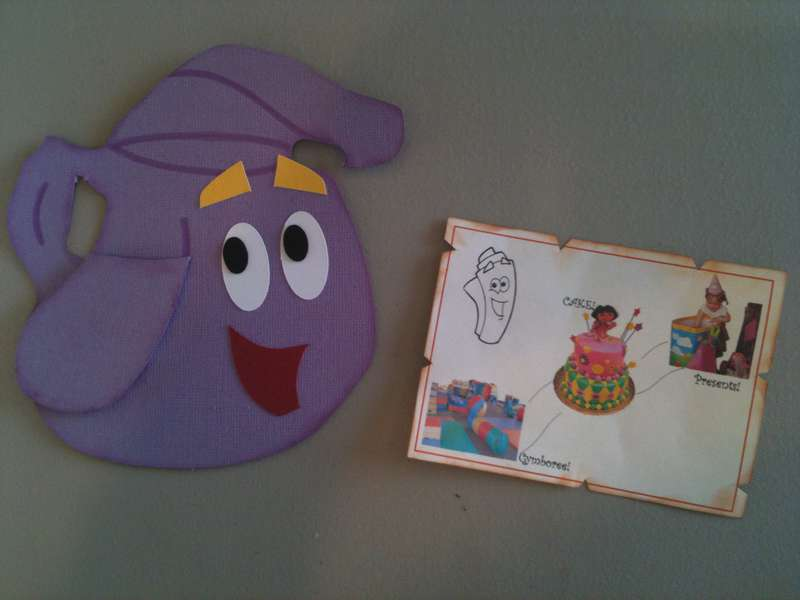 Dora Party Invitation - Backpack and Map on dora backpack and map, dora boots backpack map, dora party, dora backpack toy map,
