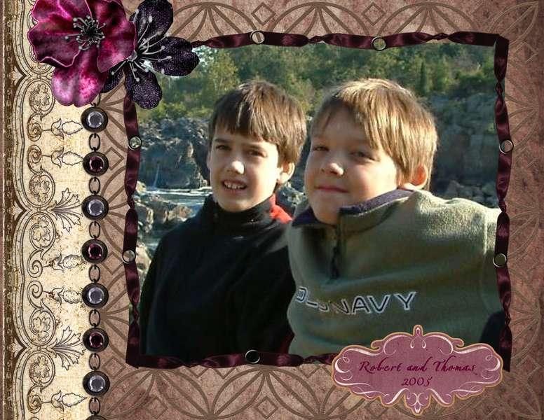Robert and Thomas at Great Falls, 2005