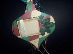 Chipboard Christmas ornament scrapbook album