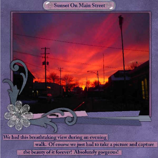 Sunset On Main Street