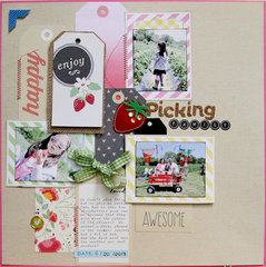 Strawberry Picking Family *American Crafts*