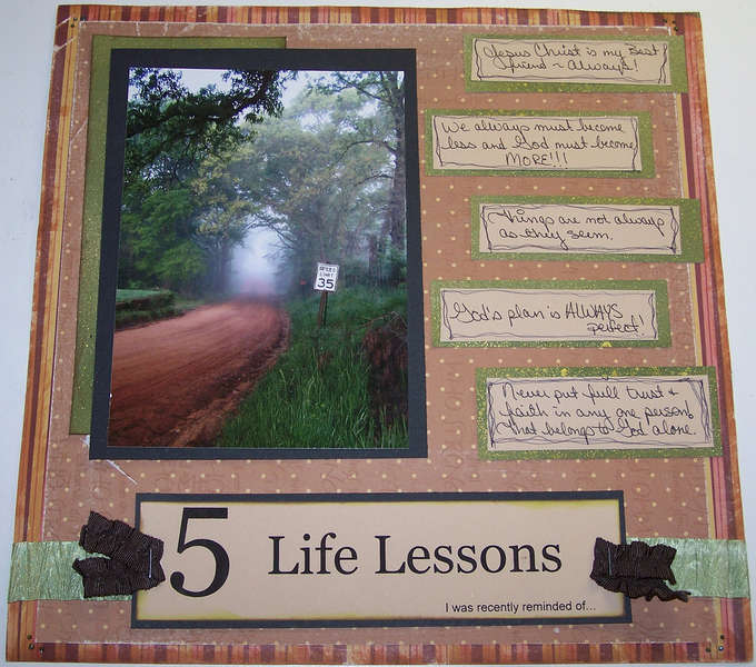 5 Life lessons...