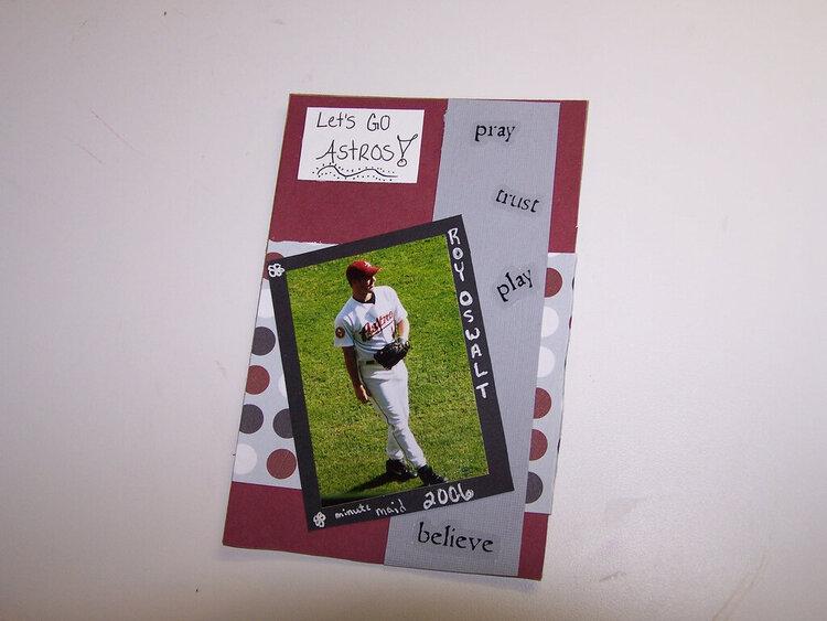 Let's Go Astros! Mini LO for Magnet  Frame