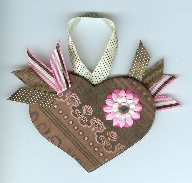 Altered Wooden Gift tag/ornament