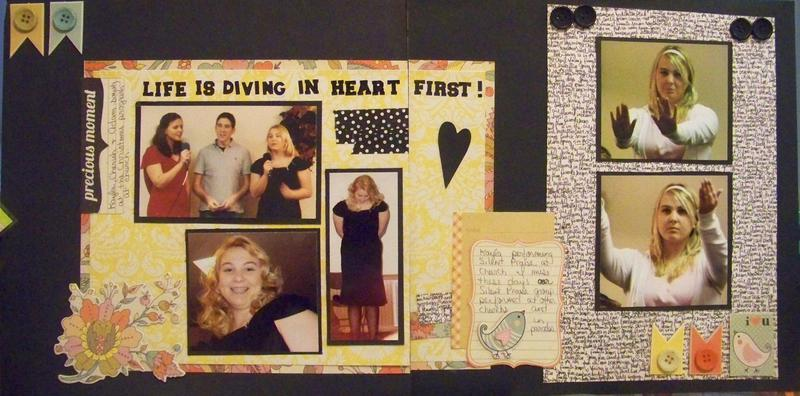 Life is diving in heart first both pages
