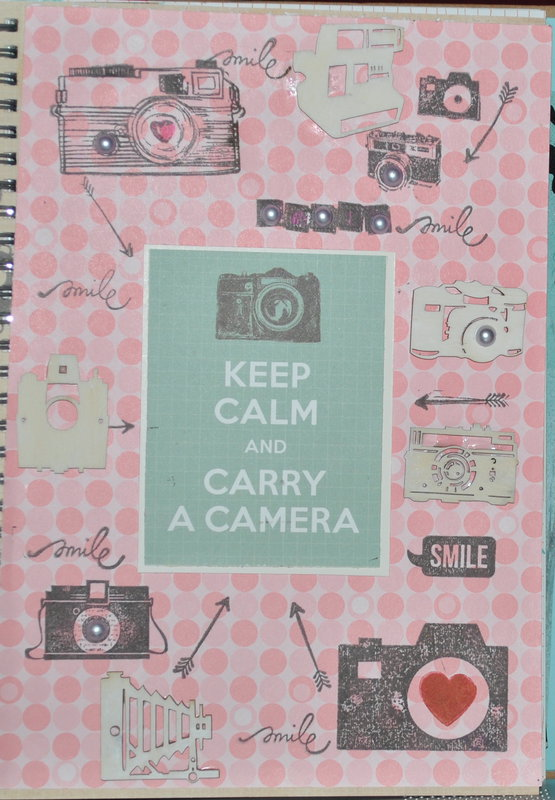 Keep Calm and carry a camera (smash book page)