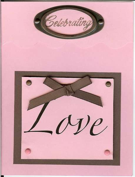 Pink and Brown  Love Card