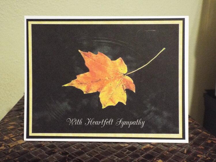 Leaf Sympathy Card