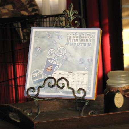 Calendar displayed on easel