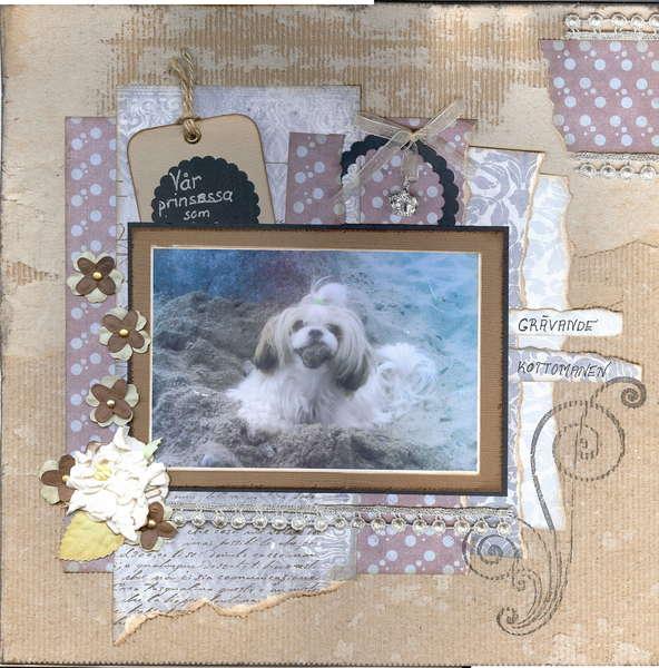 """Our precious dog, """"grävande kottomanen"""""""