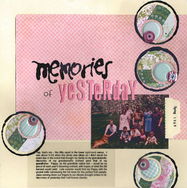memories of yeSTeRdaY
