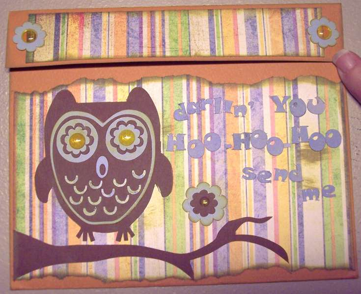 hooty valentine card- front