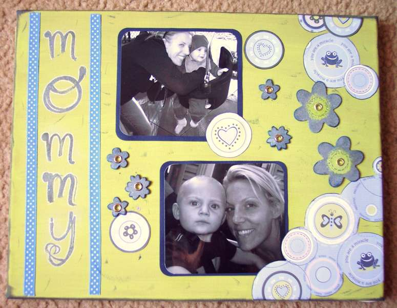 altered canvas- mommy