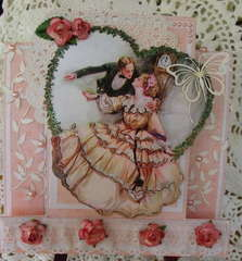 Vintage, Victorian card for Kat and Brats card swap