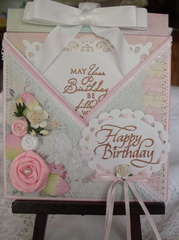 Criss-cross B-day card