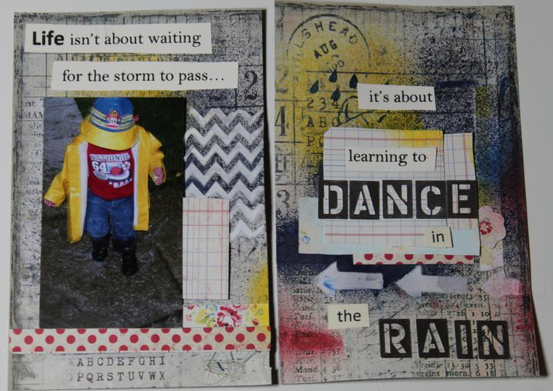 **Swirlydoos Ultimate Designer Challenge Week 5** Art Journal Life Quote