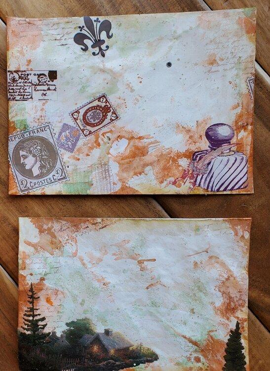 Altered envelopes, front side