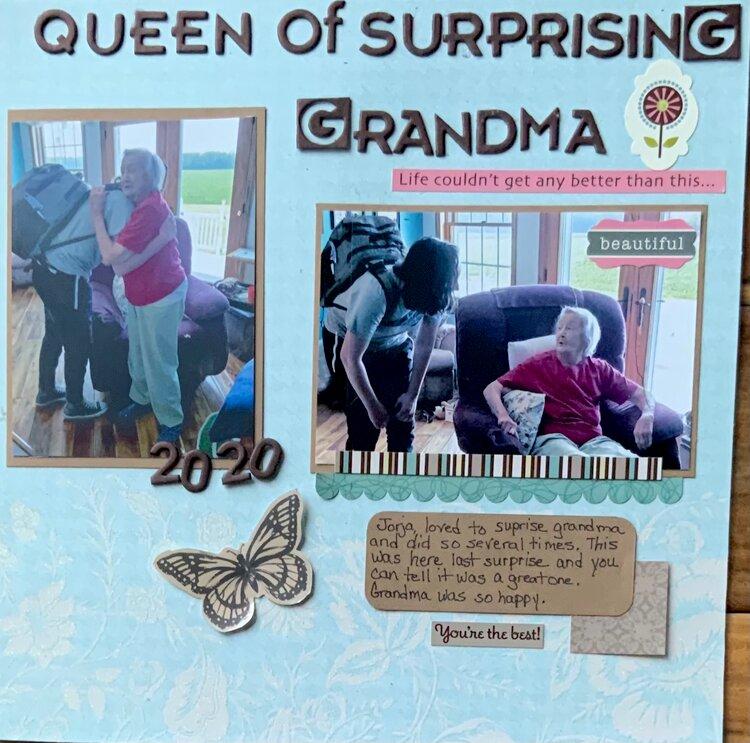Queen of surprising grandma