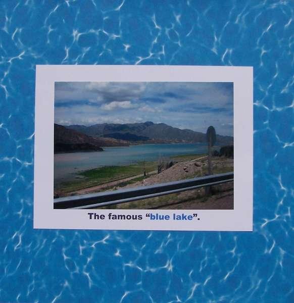 "The famous ""blue lake"""