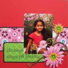 Mackenzie - Happy 6th Birthday
