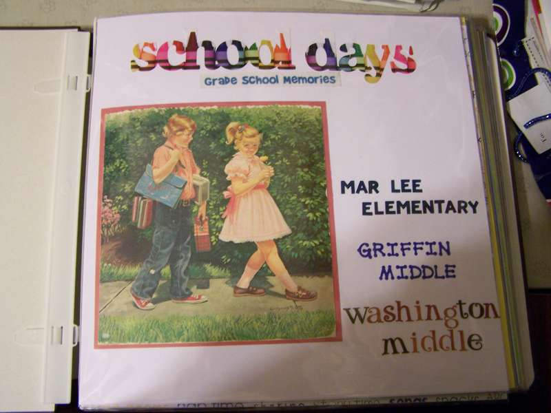 Title page for School Years album