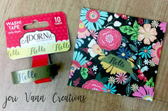 Use ADORNit Washi Tape to seal your envelope!