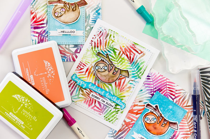 Lesson 7: How to Use Watercolor Markers to Create Colorful Backgrounds- How to Begin Cardmaking Like a Boss with Simon Hurley
