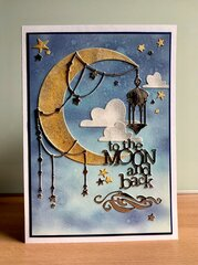 To the Moon and Back - Baby card