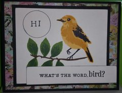 Bird and branch card