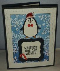 Hero arts winter penguin warmest holiday wishes