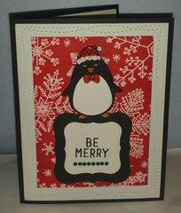 Hero arts winter penguin be merry