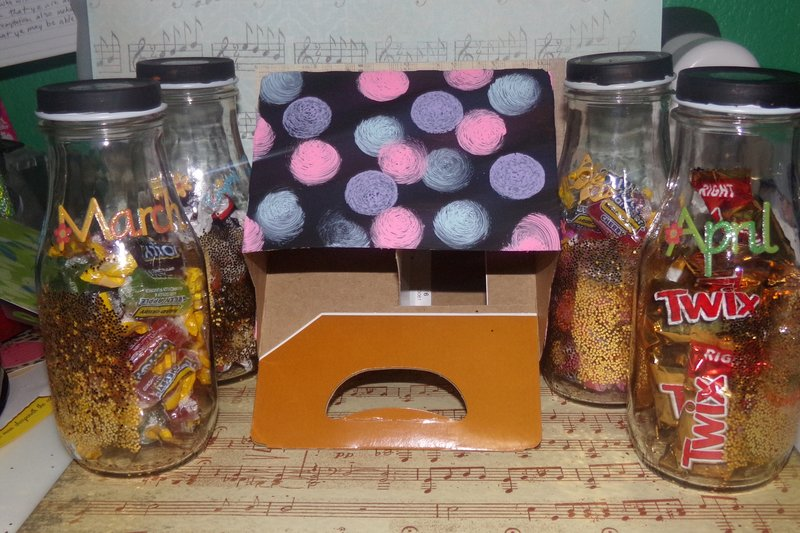 Candy Jars and Decorated Box