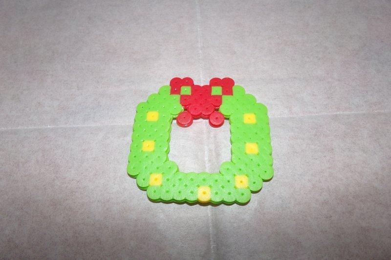 Perler Bead Wreath