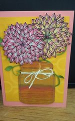 Dahlia Thank You Card